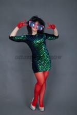 01838 Линда. Платье в стиле диско.