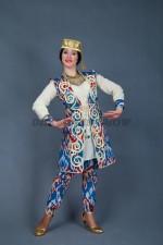 02264 Узбекский танцевальный костюм с цветными шароварами