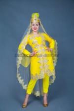 02259 Девушка из Самарканда в желтом наряде