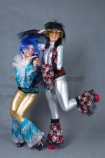 01828 Парные костюмы для вечеринки в стиле Диско