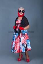 5805. Платье в стиляжном стиле