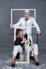 5878. Парные костюмы для вечеринки в гангстерском стиле