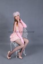 5886. Подружка банкира. Платье, ободок, перчатки, туфли.