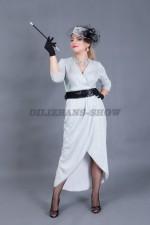 5911. Хозяйка клуба. В комплекте: платье, перчатки, шляпка, мундштук.