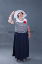 5744. Морское платье большого размера
