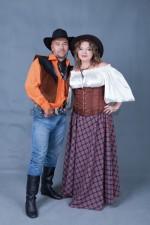 5874. Парные костюмы в ковбойском стиле