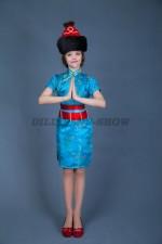 00847 Бурятский костюм для девочки